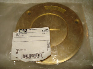 Brass Hubbell Round Floor Box Cover Single 2 1 8 3 7 8 S2925 Sealed