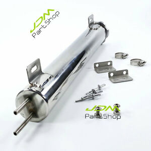 2 X 15 Polished Oz Radiator Overflow Puke Fuel Tank Bottle Catch Can Stainless