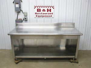 72 Stainless Steel Heavy Duty Kitchen Cabinet Work Prep Table 6 x30