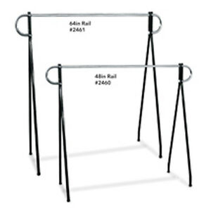 Chrome Plated Steel Single Rail Clothing Rack 60 In W X 23 In D X 64 In H