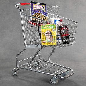 New Extra Tough Steel Quality Grocery Shopping Carts 36 h X 30 l