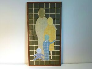 Tile Mosaic The Family Unit Mid Century Modern Wall Art Vintage Ackerman Style