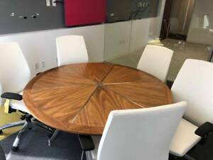 Birch Conference Room Table W Six Conference Room Chairs