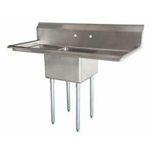 Stainless Steel 1 Compartment Sink 54 X 27 With 2 18 Drainboards