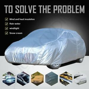 Universal Fit Outdoor Waterproof Heatproof Full Car Cover Up To 156 Length