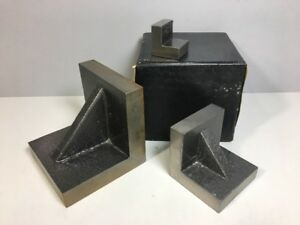 Set Of 3 Toolmaker Angle Plates 3 Different Sizes Plain Angle Plates Webbed Tool