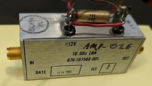 Harris X band Lna 7 To 12 Ghz Amplifier Tested Guaranteed a26
