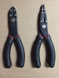 Sears Craftsman Laminated Needle Nose Pliers 45755 Wire Cutters 45758