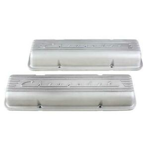 Finned 1960 86 Small Block Chevrolet Valve Covers Plain