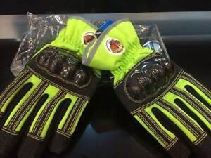 Schmitz Mittz Rescuex Extrication Waterproof Safety Gloves High Viz Green