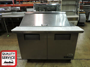 True Tssu 48 18m b Commercial Mega top Solid Door Sandwich salad Prep Table