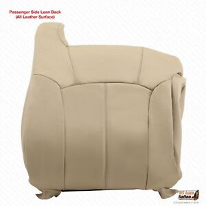 2000 2001 2002 Chevy Tahoe Suburban Passenger Top Leather Replacement Cover Tan