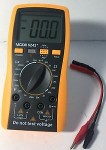 Victor 6243 Digital Lcr Multimeter With Lcd Display Yellow Black