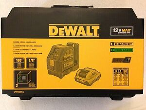 Dewalt Dw088lg 12v Max Green Cross Line Laser Kit With Charger And Case New