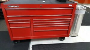 Snap on 54 10 Drawer Double Bank Classic Series Roll Cab Tool Box Chest W keys
