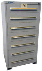 Stanley Vidmar 7 Drawer Industrial Storage Cabinet Tag 24