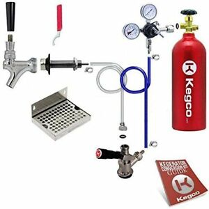 Deluxe Door Mount Kegerator Beer Conversion Kit Draft Beer Dispensing Set Parts
