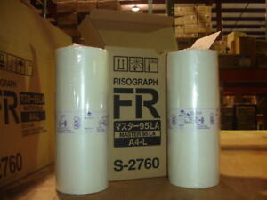 Genuine Riso S 2760 Box Of 2 Master Rolls For The Risograph Fr2950 New