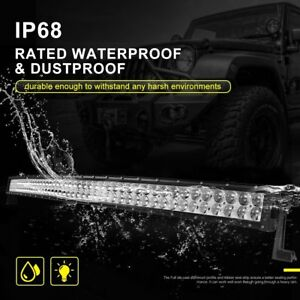 52 Inch 4d Led Offroad Light Bar Curved 500w Night Driving Lamp Automotive Truck