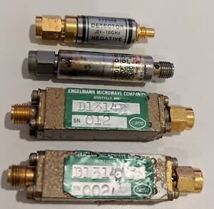 Lot Of 4 Sma Rf Detectors Hewlett Packard Omni spectra And Engelmann To 18ghz