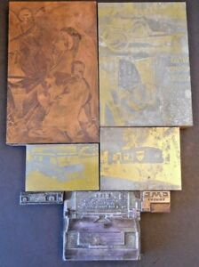 Vintage Metal Wood Letterpress Printing Stamps Blocks Lot Unique