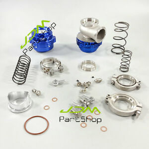 Blue Bov50 Mvr44 Wastegate Combo Turbo Blow Off Valve Bov 50mm Waste Gate 44mm