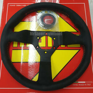 Momo Monte Carlo Alcantara Suede 320mm Red Stitch Steering Wheel Mcl32al3b