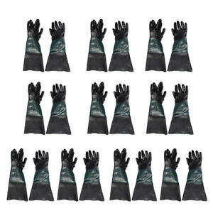 10 Pair 60cm Pvc Gloves Sand Blasting Machine Gloves Sand Blasting Gloves