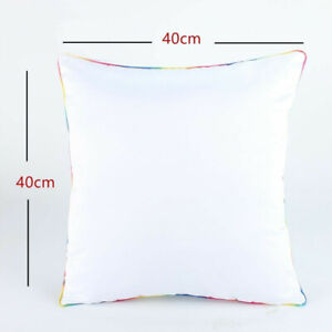 Plain White 3d Sublimation Blank Pillow Case Cushion With Edge Polyester 50pcs