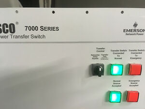 Asco 7000 Series Transfer Control Plate Instruction Plate W Lights Switch