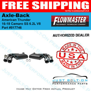 Flowmaster 2016 2019 Camaro Ss Zl1 6 2l American Thunder Axle back 4in 817746