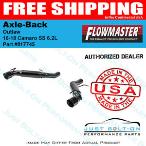 Flowmaster 16 18 Camaro Ss 6 2l Outlaw 409s Axle back Black Tips 817745
