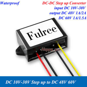 Waterproof Dc dc Boost Step Up Converter Volt Regulator 12v 24v To 48v 60v Car