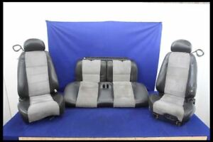 2003 2004 Ford Mustang Cobra Svt Terminator Bucket Leather Suede Seats