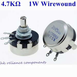 50 Pcs 1w 4 7k Ohms Wirewound Potentiometers Volume Control Pots 1 Watt