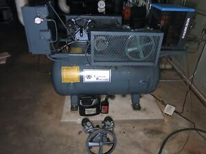 Commercial Air Compressor With Dual Motors And Hankison Dryer 200psi Max