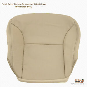 Driver Bottom Tan Perforated Leather Seat Cover For 2004 2005 Lexus Es300 Es330