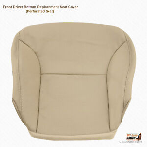 Driver Bottom Tan Perforated Leather Seat Cover For 2002 2006 Lexus Es300 Es330