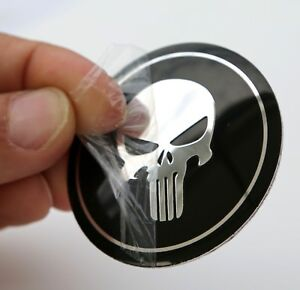 Dome Shape 3d Metal Skull Punisher Auto Sticker Decal Emblem 2 20