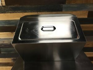Delfield 240 Drop In Stainless Steel Ice Chest bin With Cover