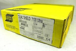33 Spool 1 16 Esab Ds 7100 Ultra 248000028 E71t Mild Steel Fluxcored Wire Vt