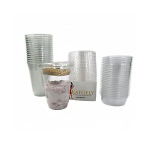 Katgely 12 Oz Parfait Cup With Insert And Flat Lid pack Of 100