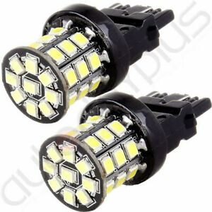 2x 3157 Pure White 60smd Reverse Back Up Tail Brake Stop Turn Led Tail Light 12v