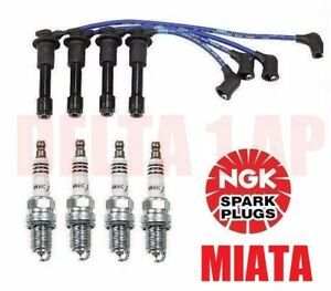 Tune Up Kit Ngk Engine Spark Plugs Ignition Spark Plug Wire Set For Mazda Miata
