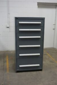 Used Stanley Vidmar 6 Drawer Cabinet Industrial Tool Storage 1422