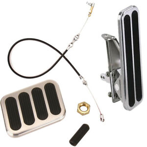 Lokar Xl Floor Mount Throttle Brake Pedal Kit With Cable