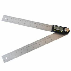 200mm Electronic Angle Meter Gauge Stainless Steel Digital Protractor 20cm Tool