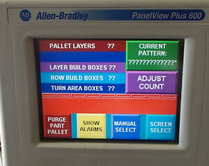 Allen Bradley 2711p t6c20d Panelview Plus 600 Used Cut Out