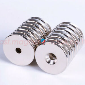 40mm X 5mm Hole 6mm Neodymium Disc Round Super Strong Rare Earth Magnet N50