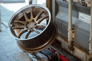 Aodhan Ds02 19x9 5 22 5x114 3 Bronze W Machined Lip Staggered Set Of 4